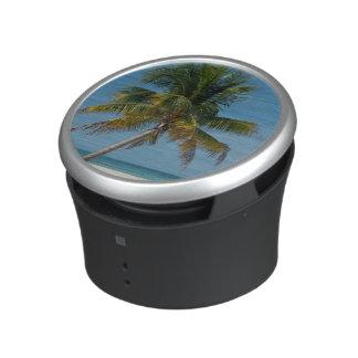 Palm tree and white sand beach  2 bluetooth speaker