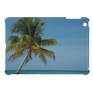 Palm tree and white sand beach  2 iPad mini case