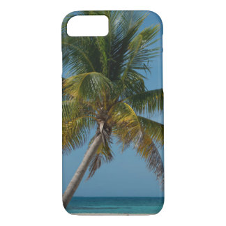 Palm tree and white sand beach  2 iPhone 8/7 case