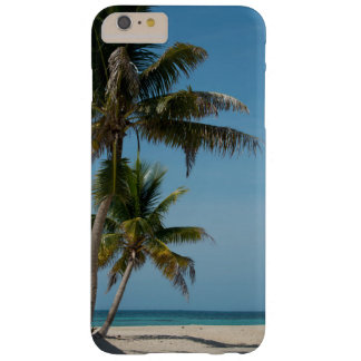 Palm tree and white sand beach barely there iPhone 6 plus case