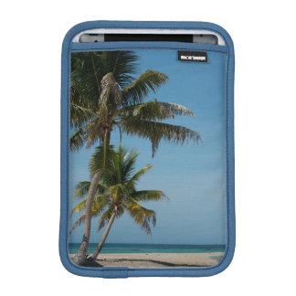 Palm tree and white sand beach iPad mini sleeve