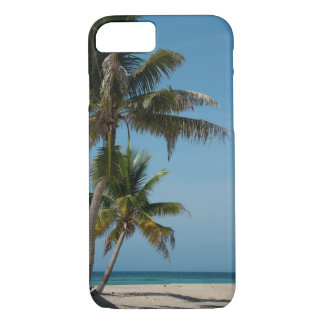 Palm tree and white sand beach iPhone 8/7 case