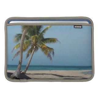 Palm tree and white sand beach MacBook air sleeve