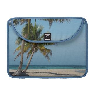 Palm tree and white sand beach MacBook pro sleeve