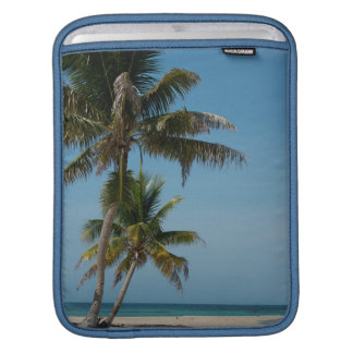 Palm tree and white sand beach sleeve for iPads