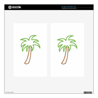 PALM TREE APPLIQUE KINDLE FIRE DECALS