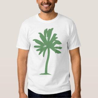 Palm Tree - Army Green Tee Shirt