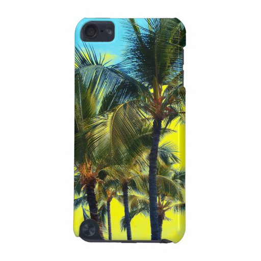 Palm tree art Hawaii iphone touch case iPod Touch (5th Generation) Covers