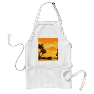 Palm Tree at Sunset 2 Adult Apron