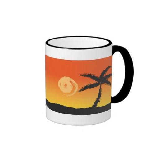 Palm Tree at Sunset Mug