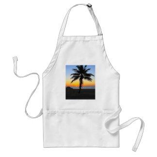 Palm Tree at Sunset on Beach Apron