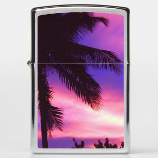 Palm Tree at Sunset Zippo Lighter