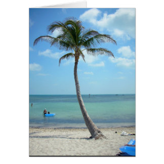 Palm Tree at the Beach Card