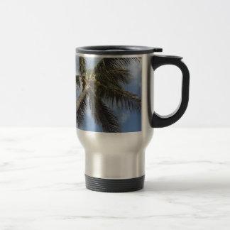 Palm Tree at the Blue Lagoon Coffee Mug