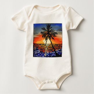 Palm Tree Baby Bodysuit