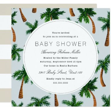 Beach Themed Palm Tree Baby Shower Card