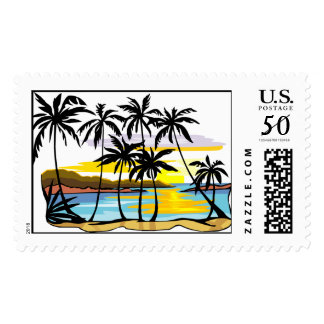 Palm Tree Background Postage