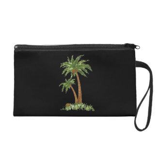 Palm Tree Bagettes Bag Wristlet Clutches