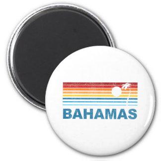 Palm Tree Bahamas 2 Inch Round Magnet