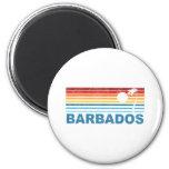 Palm Tree Barbados Fridge Magnets