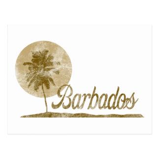 Palm Tree Barbados Post Card