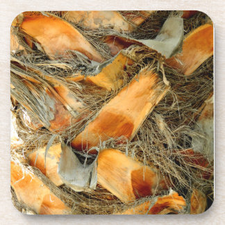 Palm tree bark natural texture coaster