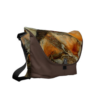 Palm tree bark natural texture courier bag