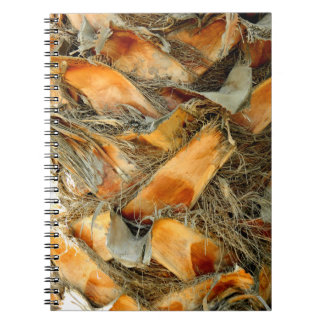 Palm tree bark natural texture notebook