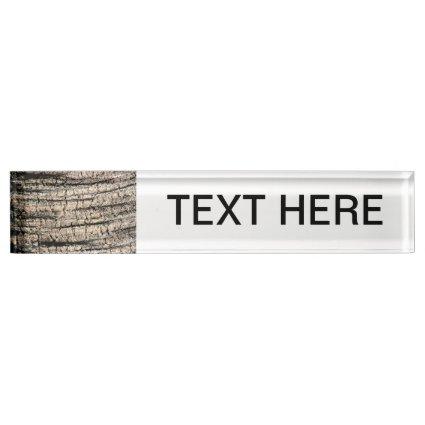 palm tree bark neat wood tree texture image desk nameplates