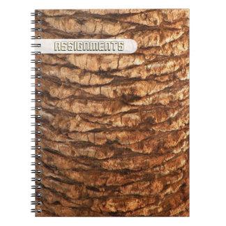Palm Tree Bark Notebook