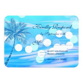 Palm Tree Beach Destination Wedding RSVP Cards