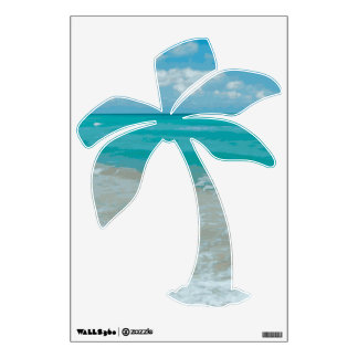 Palm Tree Beach Graphic Wall Decal