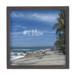 Palm Tree Beach; Happy Mother's Day Premium Jewelry Box