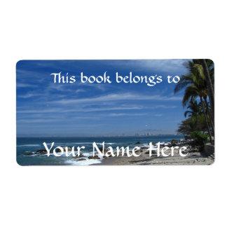 Palm Tree Beach Label