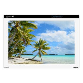 Palm tree beach laptop skin