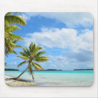 Palm tree beach mouse pad