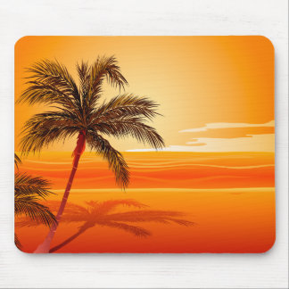 Palm Tree Beach Sunset Mousepads