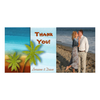 Palm Tree / Beach theme wedding / event Card