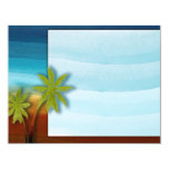 "Palm Tree / Beach theme wedding / event 4.25"" X 5.5"" Invitation Card"