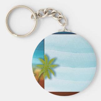 Palm Tree / Beach theme wedding / event Keychain