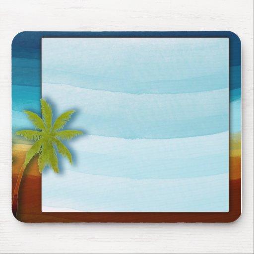 Palm Tree / Beach theme wedding / event Mouse Pad