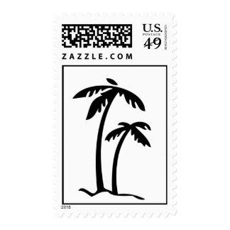 Palm Tree Beach theme wedding event Postage Stamps