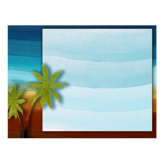 Palm Tree / Beach theme wedding / event Postcard