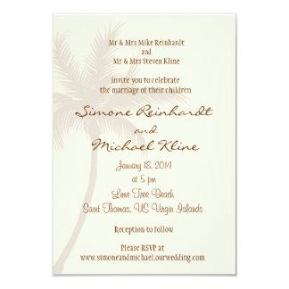 Palm Tree Beach Wedding Invitation