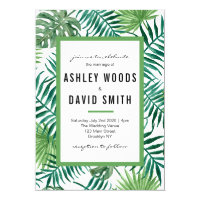 Palm Tree Beach Wedding Invitation