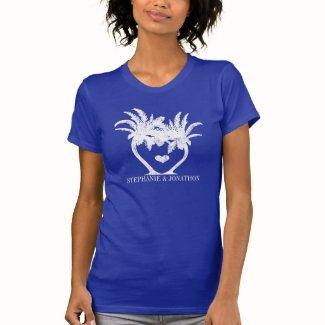 Palm Tree Beach Wedding Tee Shirts