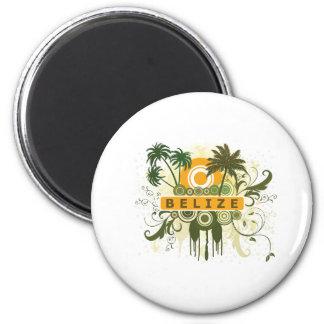 Palm Tree Belize 2 Inch Round Magnet