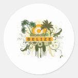 Palm Tree Belize Round Sticker