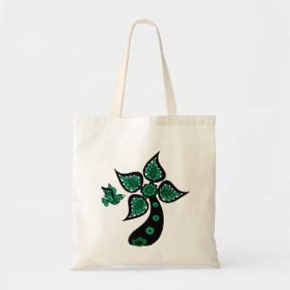 Palm Tree Bird Canvas Bag
