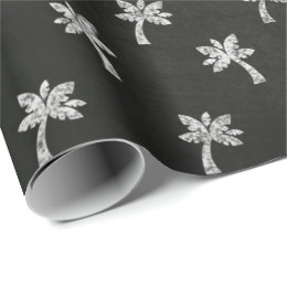 black and white tree wrapping paper zazzle